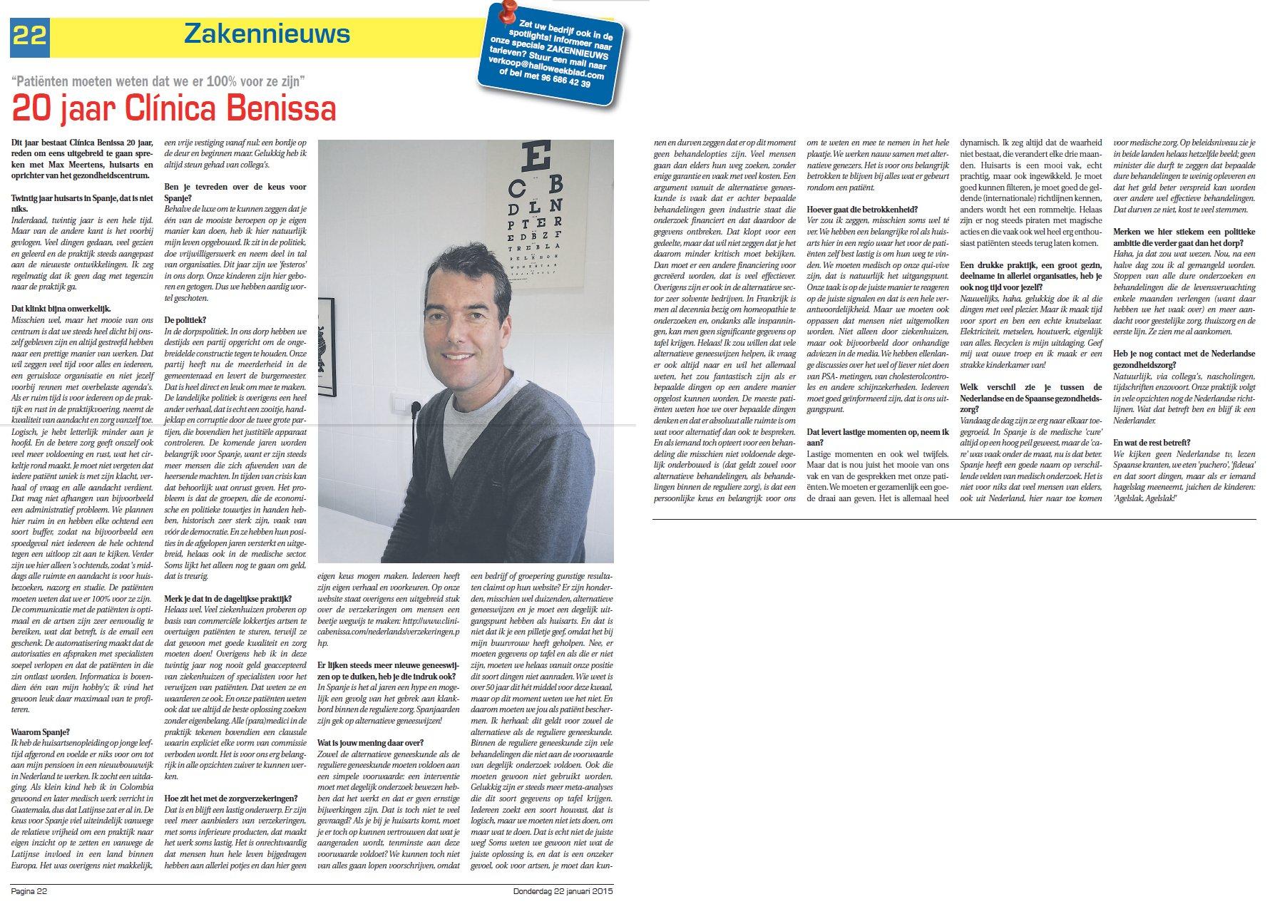 Interview Dr. Meertens Hallo Weekblad
