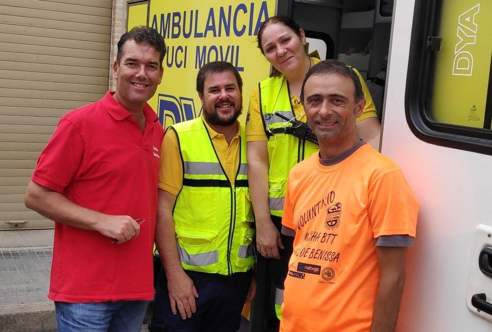 Clínica Benissa aanwezig bij mountainbike wedstrijd van Benissa